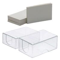Transparant Doosje Hard Plastic Visitekaart