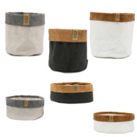 Cadeautas Sizo Storage With Leather & Suede edge